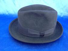 cappello Homburg alla diplomatica guerra pari al nuovo mai usato tg 55 feltro