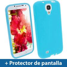 Azul Case Silicona para Samsung Galaxy S4 IV I9500 Smartphone Funda Carcasa