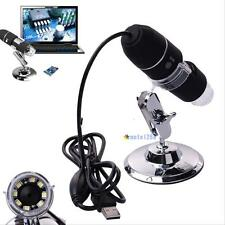 2MP 1000X 8 LED USB Digital Microscope Endoscope Zoom Camera Magnifier& Stand DH