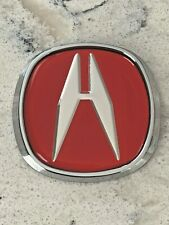 "2.5� Diagonal Red"" A "" Acura Emblem Badge Front or Rear"