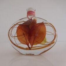 Lampe à huile feuille céramique flacon verre art-déco vintage France