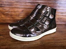 "Mens Jump ""Volume"" High Top Fashion Sneakers Dark Bronze Patent Leather 11.5 M"