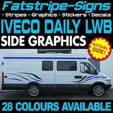 IVECO DAILY LWB GRAPHICS STICKERS STRIPES DECALS MOTORHOME CONVERSION CAMPER VAN