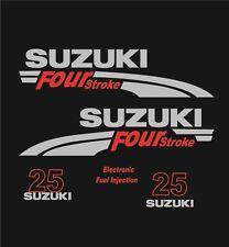 Adesivi motore marino fuoribordo Suzuki 25 hp four stroke