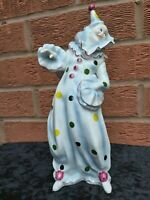 Coalport Bone China Clown Figurine Polka Dot Outfit