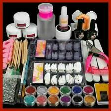 Professional Acrylic Nail Art Full Kit Powder Primer Tips Practice Tool Sets