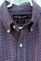 Rare Mens Ralph Lauren Label L/S Blake Plaid Button-Down Shirt Size Medium