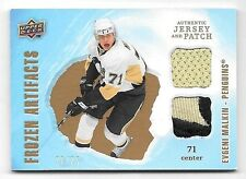 08/09 Artifacts Frozen Artifacts Gold Evgeni Malkin Dual Jersey & Patch #20/25
