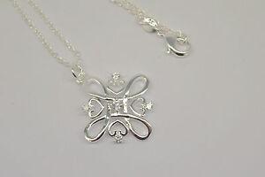Necklace Silver Celtic Hearts