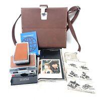 Vintage Polaroid SX-70 Land Camera w/ original Leather Case + Manuals FOR REPAIR