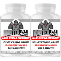 Angry Supplements Monster in a Minute Reliable men booster Sexpills for men 2pk