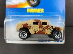 1991 Hot Wheels Hummer Collector #188 Military Tan Camo Blue Card SB Car NEW