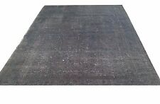 "7'1"" x 4'9""  Vintage OUSHAK  dark gray  color reform Overdyed rug carpet  tapis"