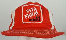 Vintage VitaFerm Vita Ferm All Animals Sewn Patch K-Products Orange Trucker Hat