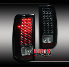 99-02 CHEVY SILVERADO/99-03 GMC SIERRA LED ALTEZZA TAIL BRAKE LIGHTS LAMPS BLACK