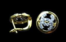 Sweet Fashion Chic CZ Huggie Earrings Thai 22K 18K Yellow Gold GP Jewelry GT58