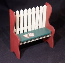 Concord Robin Betterley's Harvest Home Collection Dollhouse Mini Picket Bench