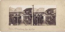 Gare de l'Est Paris 1901 Stéréo amateur Vintage citrate