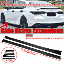 2.2M Carbon Fiber Look Side Skirts Extensions For Toyota Camry RAV4 Highlander