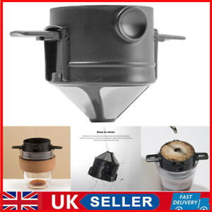 UK Foldable Coffee Filter Portable Stainless Steel Reusable Coffee Dripper Cone