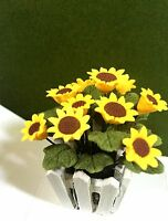 BRIGHT-DELIGHTS DOLLHOUSE MINIATURE TWO TONE YELLOW ROSE  TRAILING  VINE