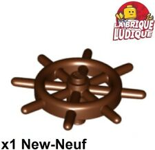 Lego - 1x Bateau Boat Ship's Wheel gouvernail marron/reddish brown 4790b NEUF