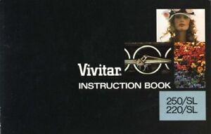 Vivitar 250 SL 220 SL Instruction Manual Original