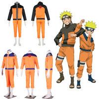Naruto Shippuden Adult Costume Cosplay w/Jacket & Pant Optional Headband Glove