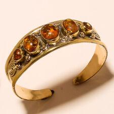New Year Sale Offer 925 Tibetan Brass Free Shipping Cuff Amber Jewellery