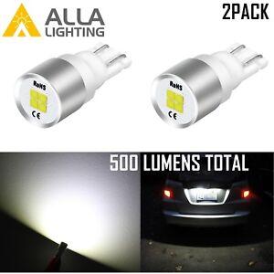 Alla 194 4-LED White Courtesy|Dome|Map|Glove Box|License Plate Tag Light Bulb 2X