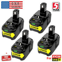 4x 18V For P108 Ryobi ONE+ Rechargeable Li-Ion Battery Replaces P104 P102 P109
