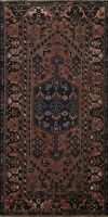 Antique Geometric Tribal Traditional Area Rug Hand-Knotted Oriental Carpet 4x7