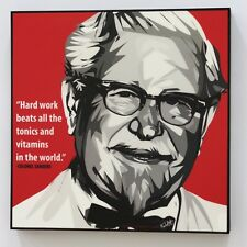 Colonel Sanders KFC canvas quotes wall decals photo painting pop art poster