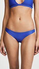 NEW MIKOH 'Zuma' Classic Bikini Bottoms Size S Small Iris Blue $90