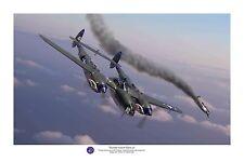 """WWII WW2 USAAF USAF P-38 Lightning Tommy Lynch Aviation Art Photo Print - 8""""X12"""""""