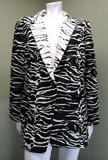 Chico's  Women's Black & White Animal Print Jacket Blazer~Size 2