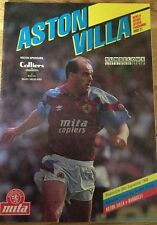 Aston Villa v Barnsley (Rumbelows League Cup rd2 1st Leg) 1990-91