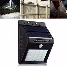 Solaire Capteur 16 LED Détecteur Mouvement Spot Lampe Murale Lumière Extérieur