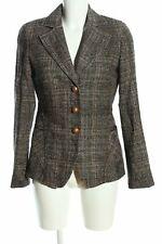 RIANI Tweedblazer hellgrau-braun Karomuster Business-Look Damen Gr. DE 36 Blazer