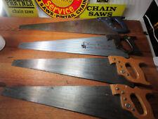 Craftsman Hand Saw LOT Cross Cut Saw and RIP Saw! Very NICE! 1960s 1970s