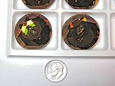 12 PIECES SWAROVSKI BUTTONS  #3014 30MM  CRYSTAL COPPER -M FOIL- ROUND FLAT BACK