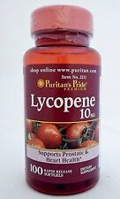 Puritan's Pride Lycopene 10mg **Promotes Prostate & Heart Health** Made In USA