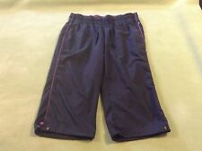 Made for Life Women's  Capri Pants, size M, black with purple