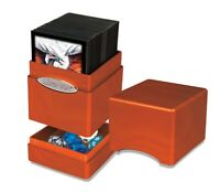 Ultra Pro SATIN TOWER PUMPKIN Deck Box Card Dice Compartment Storage MTG