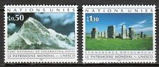 UN - Geneva office - 1992 Unesco world heritage - Mi. 210-11 MNH