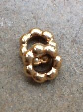 Authentic Pandora 14k Gold BUBBLE SPACER Charm RETIRED