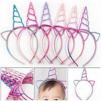 6x Fashion Plastic Unicorn Headbands Children Girls Women Party Cosplay Prop