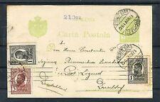Ganzsache Rumänien mit ZuF Bucharest-Düsseldorf - b3830