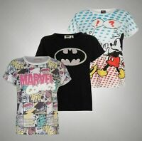 Ladies Character Graphic Print Short Sleeve T Shirt Sizes from 8 to 18