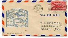 FFC 1947 First Flight New York Chicago Minneapolis Anchorage USA - Akron Ohio